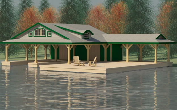 Boathouse design dan christian creative engineering for Boat house designs plans