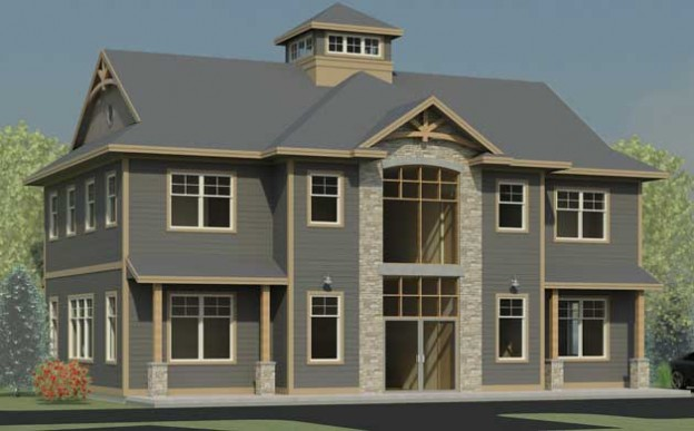145 Two Story Office Building Plans - 3d pictures 4bedrooms office ...